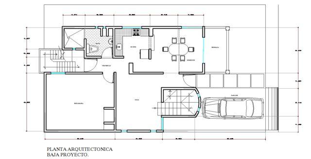 Proyecto 09 planta proyecto baja se remodelo y amplio for Planos de cocina en linea